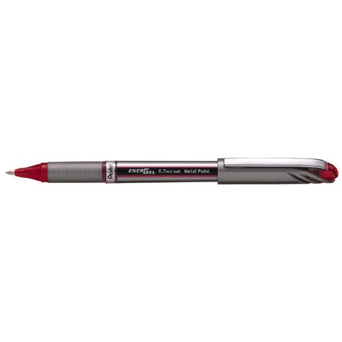 Pentel Pen Energel Capped 0.7mm Loose Red
