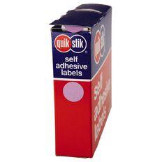 Quik Stik Labels Dots Mc14 1050 Pack Purple