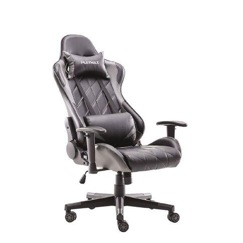 Playmax Elite Gaming Chair Steel Grey & Black