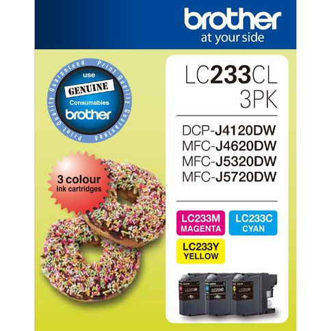 Brother Ink LC233 Colour 3 Pack (550 pages)