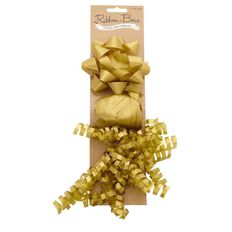 Star Curly Bow With Curling Ribbon Assorted