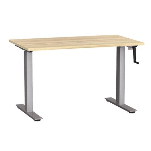 Agile Height Adjustable Desk 1200 Atlantic Oak/Silver
