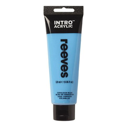 Reeves Intro Acrylic Paint Cerulean Blue 120ml Blue 120ml