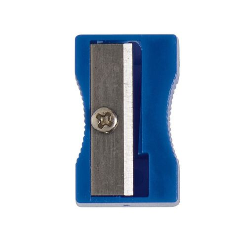 WS Pencil Sharpener 1 Hole Plastic Multi-Coloured