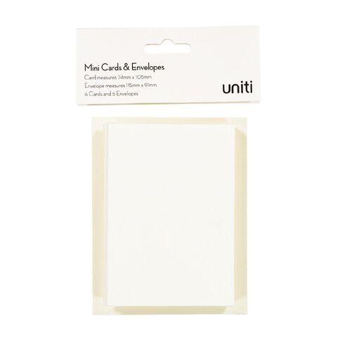 Uniti Mini Cards & Envelopes Ivory 6 Pack