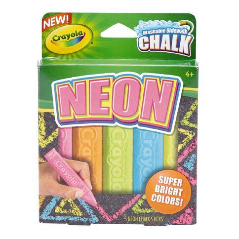 Crayola Sidewalk Chalk Special Effects Neon 5 Pack 5 Pack