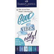 Faber-Castell Pitt Artist Pens Hand Lettering Set Good Vibes 6 Pack