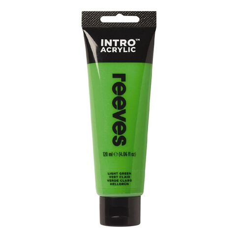 Reeves Intro Acrylic Paint Light Green 120ml Green Light 120ml