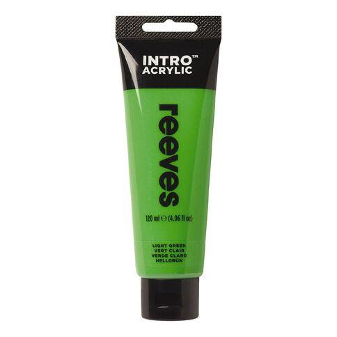 Reeves Intro Acrylic Paint Light Green Green Light 120ml