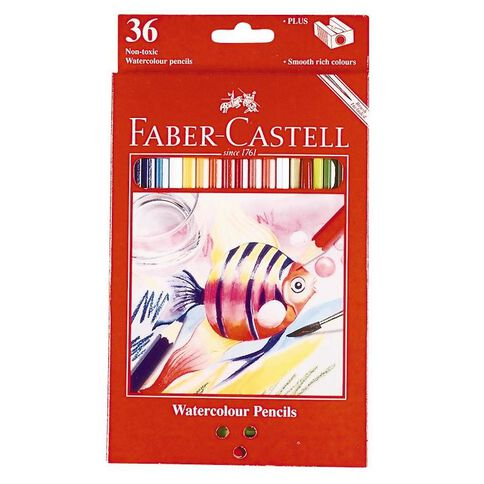 Faber-Castell Coloured Pencils Watercolour Full 36 Pack