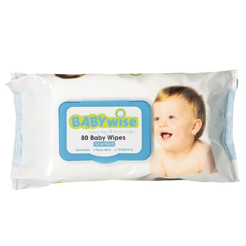 Babywise Scented Wipes 80 Pack