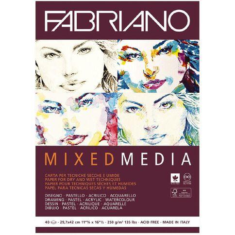 Fabriano Mixed Media Art Pad 250GSM 40 Sheets A3