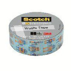 Scotch Washi Craft Tape 15mm x 10m Robots