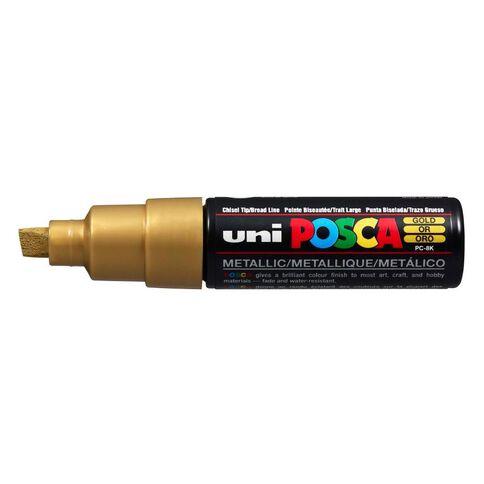 Uni Posca Marker Bullet Tip Bold Chisel 8mm Gold