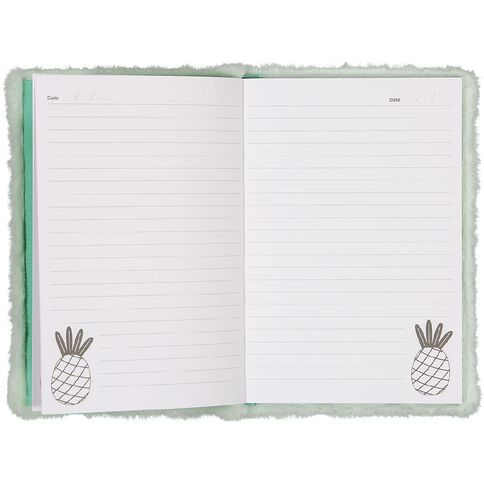 Kookie Novelty Notebook Hardcover Pineapple Green Light