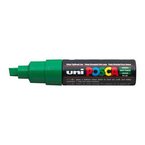 Uni Posca Marker Bullet Tip Bold Chisel 8mm Green