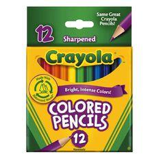 Crayola Colored Pencils Half Size 12 Pack