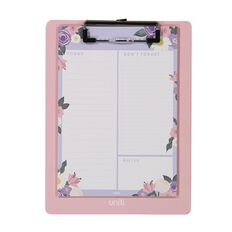 Uniti Blossom Magnetic Clipboard With Notepad Flowers