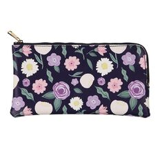 Uniti Blossom Leather Look Pencil Case Navy