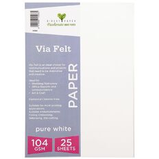 Direct Paper Via Felt 104gsm 25 Pack Pure White A4