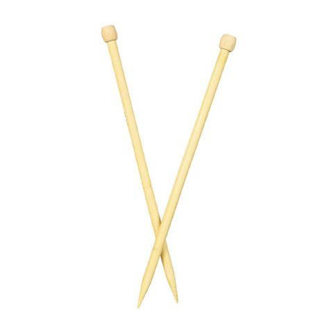 Uniti Knitting Needles Bamboo 12.0mm 35cm Brown 2 Pack