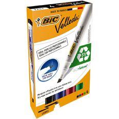 Bic Velleda Whiteboard Marker Chisel Tip Assorted 4 Pack