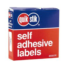 Quik Stik Labels Mr1335 13mm x 35mm 700 Pack White