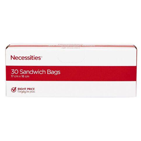 Necessities Brand Sandwich Bags 30 Pack