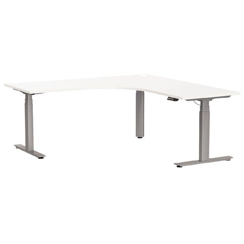 Agile Height Adjustable Electric Workstation 1800 White/Silver