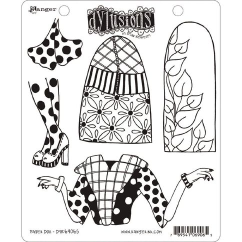 Ranger Dylusions Stamp Paper Doll