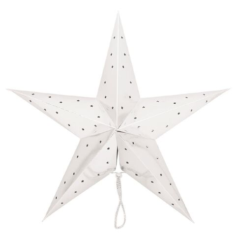 Party Inc Star Lantern Metallic Silver 50cm