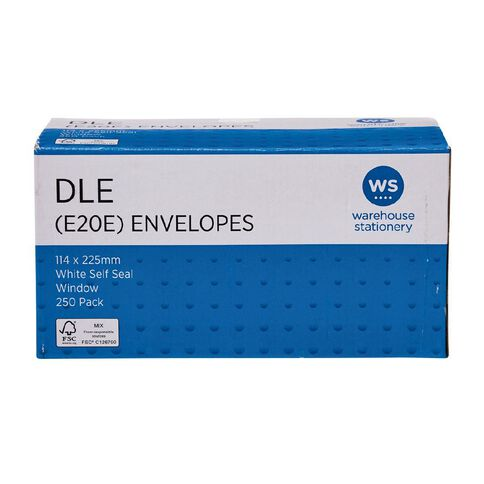Impact Envelope DLE E20E Window Seal 250 Pack