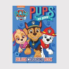 Nickelodeon Paw Patrol Blue Deluxe Colouring Book
