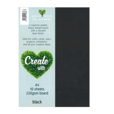 Direct Paper Create With Cardstock 220gsm Smooth 10 Pack Black A4
