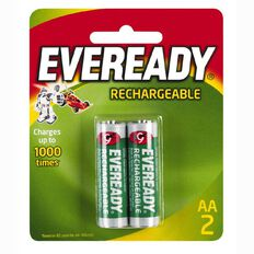Eveready Recharge Batteries AA 2 Pack
