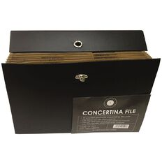 Office Supply Co Concertina File 19 Pocket Black