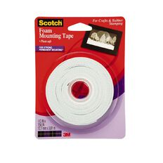 Scotch Foam mounting Tape 12mm x 3.8m Clear