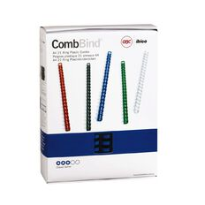 Ibico Binding Comb 25mm Blue 50 Pack