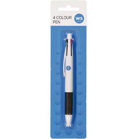 Impact Pen 4 Colour Grip Multi-Coloured