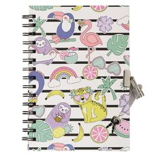 Kookie Paradise Pals Hardcover Notebook With Lock A5