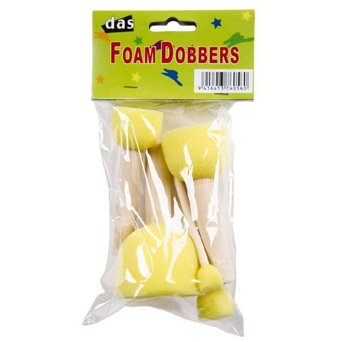 DAS Foam Dobbers 5 Pack Yellow