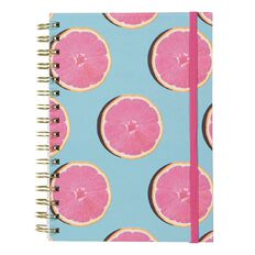 Uniti Fun & Funky Q4 Hardcover Spiral Notebook Oranges Pink A5