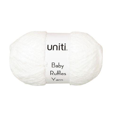 Uniti Yarn Baby Ruffles White 200g