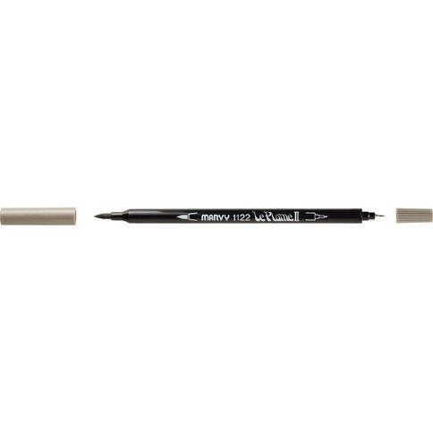 MARVY Le Plume II Dual Tip Marker Brownish Grey
