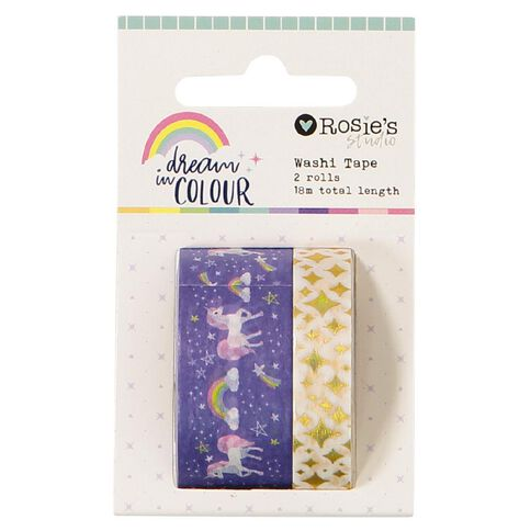 Rosie's Studio Dream In Colour Washi Tape 2 Pack