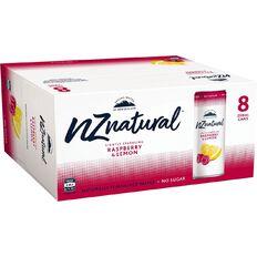 NZ Natural Sparkling Raspberry Lemon 250ml 8 Pack