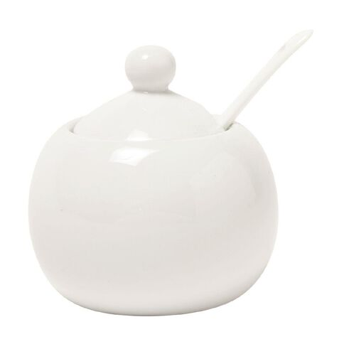 Living & Co Sugar Pot White 9cm