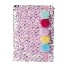 Kookie Novelty20 Notebook Sequins Pom Pom A5