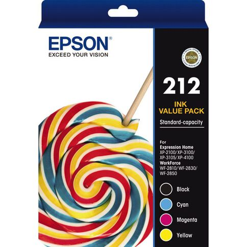 Epson Ink 212 Standard Value Pack