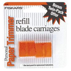 Fiskars Blades For Personal Trimmers 2 Pack Orange